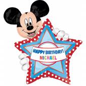 1 Adet Kikajoy Mickey Mouse Kişiye Özel Folyo Balon 60 Cm X 70 Cm