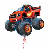 1 Adet Kikajoy Blaze Kırmızı Arazi Aracı Folyo Balon 86x71