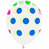 100 Adet Kikajoy Çepeçevre Karışık Puantiyeli Şeffaf Balon