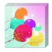 20 Adet Kikajoy Simli Balonlar Peçete