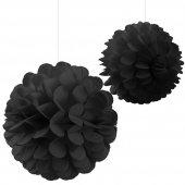 Kikajoy Dekoratif İkili Top Süs Siyah