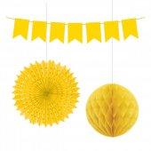 Kikajoy Üçlü Dekorasyon Seti Sarı
