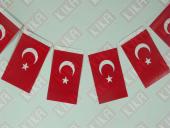400 Adet İpli Türk Bayrağı 11 Cm X 20 Cm
