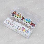 Kikajoy 5 Adet İtfaiye Araçları Ve Arabalar Doğum Günü Mumu