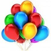 100 Adet Karışık Renkli İthal 14a Latex Balon + Ba...