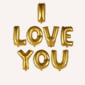 ı Love You Yazılı Harf Folyo Balon 16