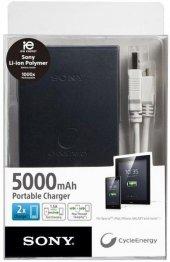 Sony Flat Taşınabilir Şarj Cihazı 5000 Mah Siyah C