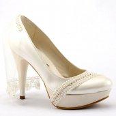 Fiore 4002 Abiye Gelinlik Stiletto Boy 12cm Bayan Topuklu Ayakkabı