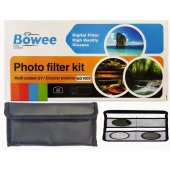 Böwee 67mm Kit Filtre Seti (Uv Cpl Polarize Nd1000...