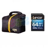 Nikon Omuz Çantası + Lexar 64gb 45mb S 300x Sd D72...