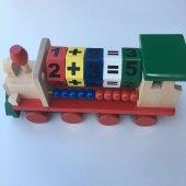 Eğitici Ahşap Tren Matematik Öğreten Oyuncak Seti