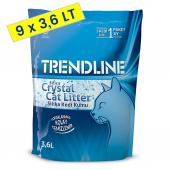 Trendline Süper Emici Tozsuz Silika Kristal Kedi Kumu 3.6 Lt 1,4 Kg (9 Adet)