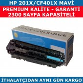 Hp 201x Cf401x Mavi Muadil Toner 2.300 Sayfa