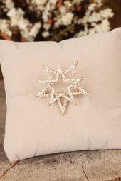 Zirkon Taşlı Kutup Yıldızı Figürlü Broş