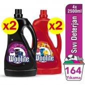 Woolite Koyu Ve Canlı Renkler 4x2500 Ml Sıvı Çamaşır Deterjanı