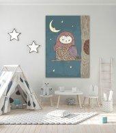 Sevimli Baykuş Çocuk Odası Kanvas Tablo
