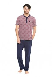 çift Kaplan 8074 100 Pamuk Erkek Pijama Takım