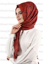 Alwayshawl Desenli Şal Tm 08 Bordo Outlet