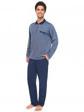 çift Kaplan 8324 Polo Yaka Uzun Kol Erkek Pijama Takım