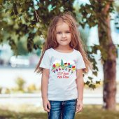 Kişiye Özel 23 Nisan Tasarımlı Beyaz Çocuk Tişört (100 Adet) K