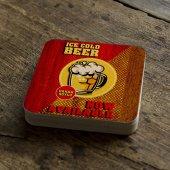 Kişiye Özel Beer Tasarımlı Retro Ahşap Bardak Altlığı 6