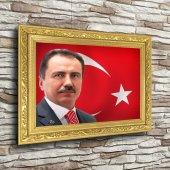 Muhsin Yazıcıoğlu Altın Yaldız Çerçeveli A3 Tablo Yatay