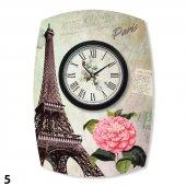 Dekoratif Country Paris Vintage Mdf Duvar Saati Stm143