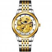 Tevise Mekanik Otomatik Altın Renk Erkek Kol Saati Stm89