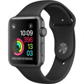 Apple Watch Seri 2 38mm Uzay Grisi Alüminyum Kasa Ve Siyah Spor Kordon Mp0d2tu A