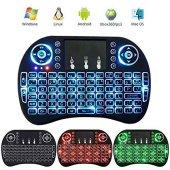 ışıklı 2.4g Mini Kablosuz Touchpad Wirelees Klavye...