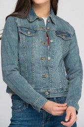 Levis Bayan Jean Ceket Taşlanmış Mavi 29945 0012