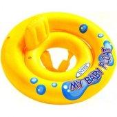 ıntex My Baby Float Oturaklı Sarı Bebek Simidi 67cm