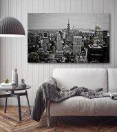 Siyah Beyaz New York Manzara Kanvas Tablo