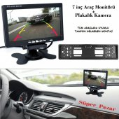 Audiomax 7 İnç Araç Monitör + Gece Görüşlü Geri Vites Kamera