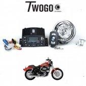 Twogo Go 1000 Ekranlı Motorsiklet Usb Mp3 Çalar Alarm