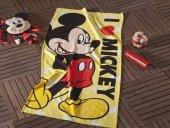 Taç Lisanslı Disney Mickey Love Plaj Havlusu