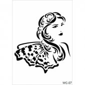 Wc7 Woman Collection Cadence A4 Stencil
