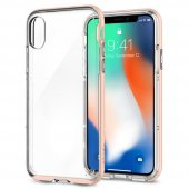 Iphone X Kılıf, Spigen Neo Hybrid Crystal Blush Gold