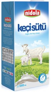 Nidola 12 Adet 1 Litre Yağlı Uht Keçi Sütü