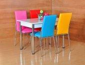 4 Kişilik Masa Sandalye Takımı Mutfak Masası Yemek Masası Cafe Restaurant Bahçe