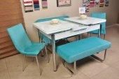 Taytüyü Kumaş Açılır Kelebek Masa Banklı Mutfak Masası 6 Kişilik