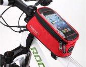 896 Roswheel Kırmızı Kadro Üstü Tel Dokunmatik Bisiklet Çantası