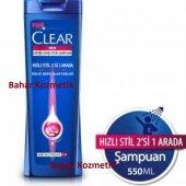 Clear Şampuan 550 Ml Men Hızlı Stil 2si 1arada