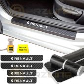Renault Karbon Kapı Eşiği Sticker (4 Adet)