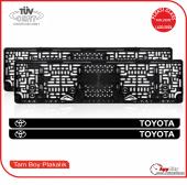 Toyota Logolu Pleksi Plakalık