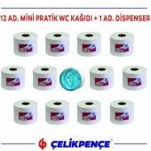5.5 Kg. Mini Pratik Wc Kağıdı İçten Çekmeli + Dispenser