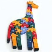 Ahşap Puzzle Zürafa Figürlü Yapboz