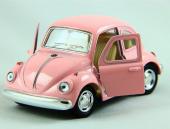 Metal Mini Vosvos Çek Bırak Oyuncak Araba Pembe
