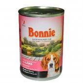 Bonnie Kuzu Etli 400gr Yetişkin Köpek Maması Konserve Mama