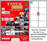 Tanex Tw 2008 99,1x67,7 Mm Laser Etiket